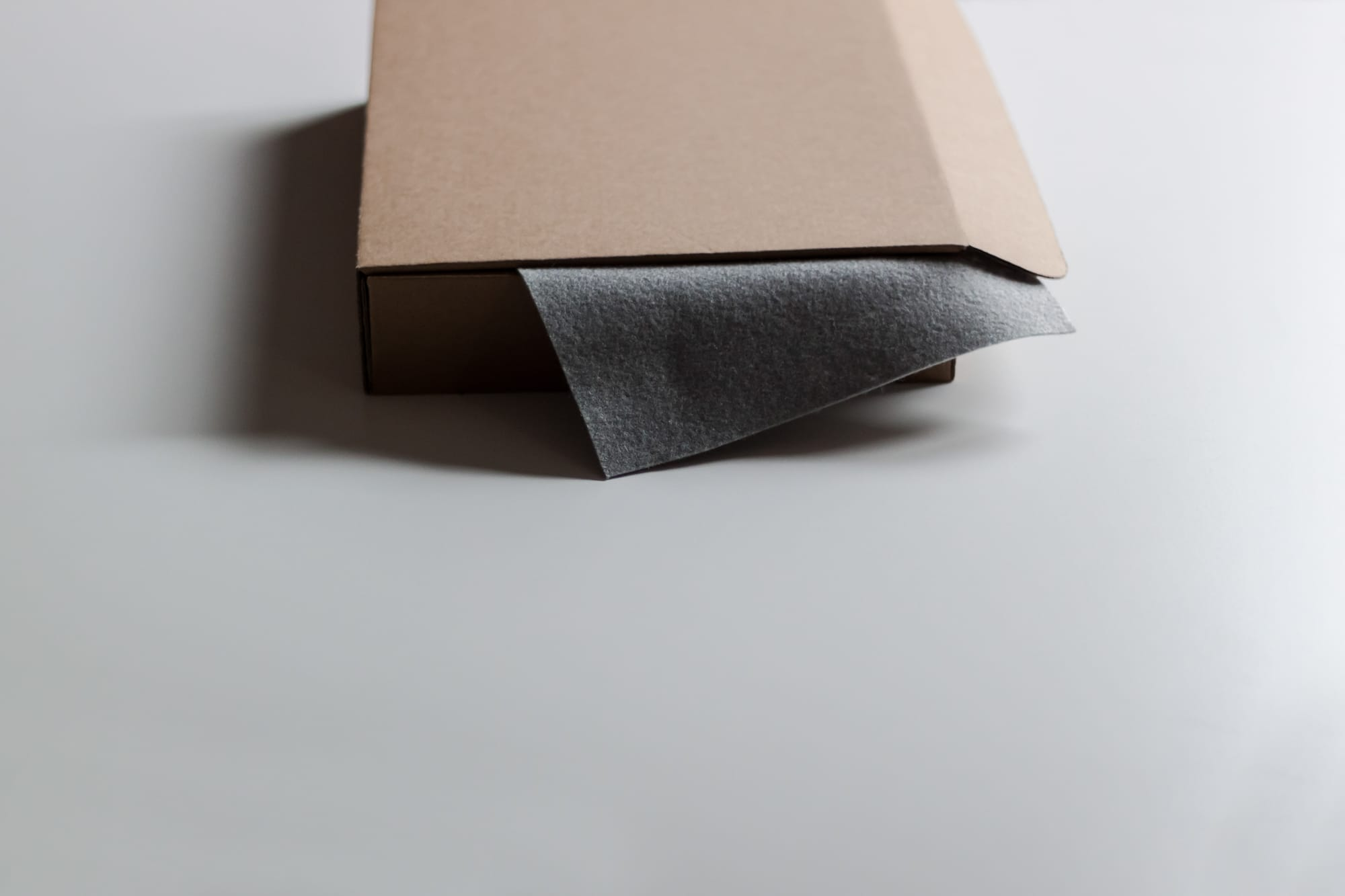 Soft material cover of package for catalogue. borcas brand